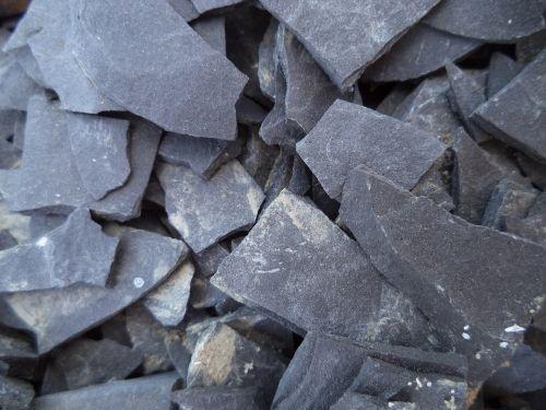 shale stone broken