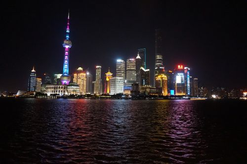 shanghai people's republic of china night view