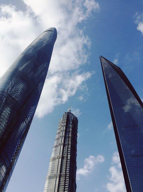 shanghai  tall buildings