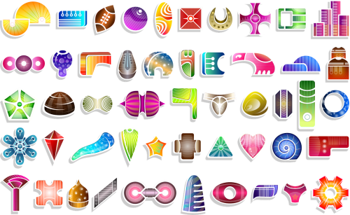 shapes abstract set
