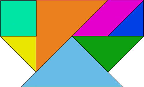 shapes colored tangram