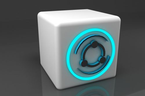 Dalintis,3d,logotipas,technologija
