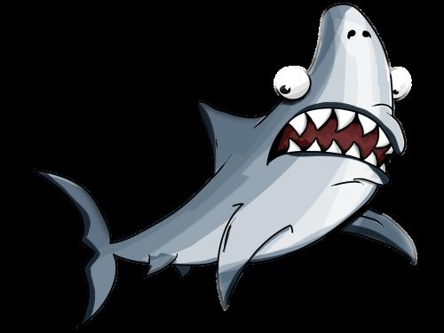 shark white cartoon