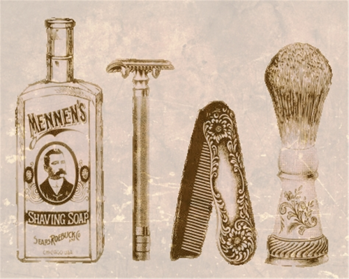 shaving grooming vintage