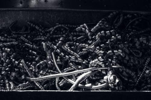 shavings metal steel