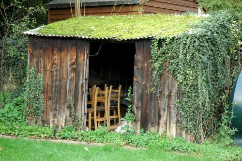 shed outhouse wooden