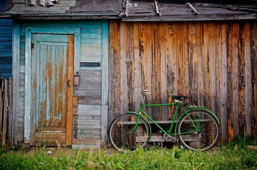 shed bicycle bike