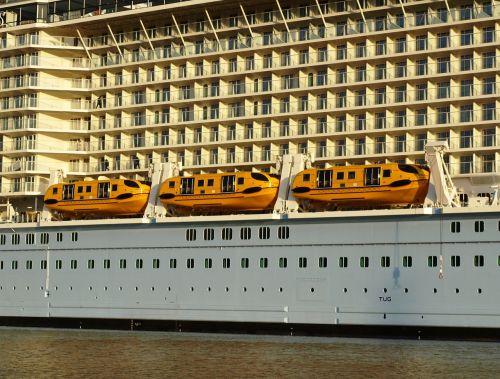 shedding lifeboats lifeboats cruise ship