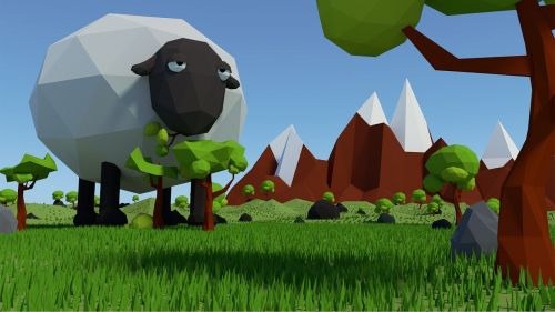 sheep low poly
