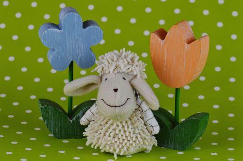 sheep flowers spring