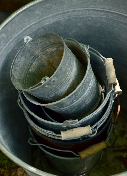 sheet metal bucket old