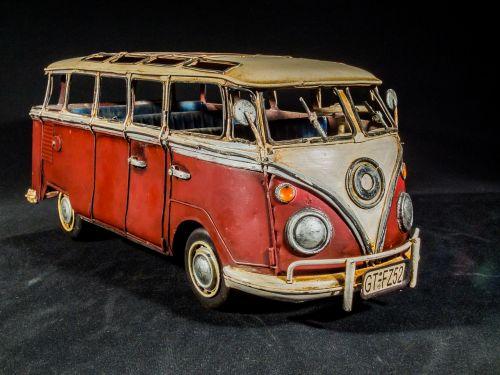 sheet metal car model car vw bus