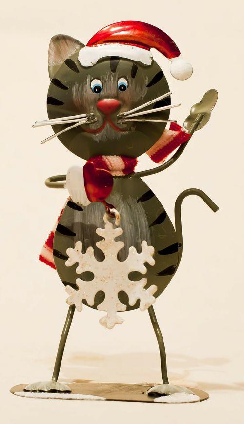 sheet metal figure cat decoration