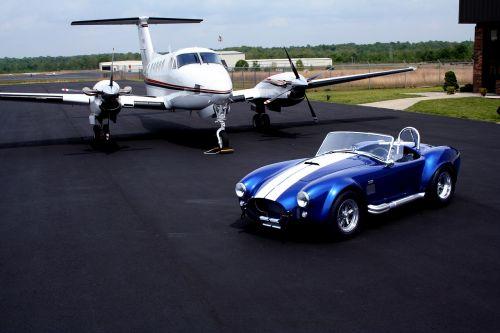 shelby cobra private plane air strip