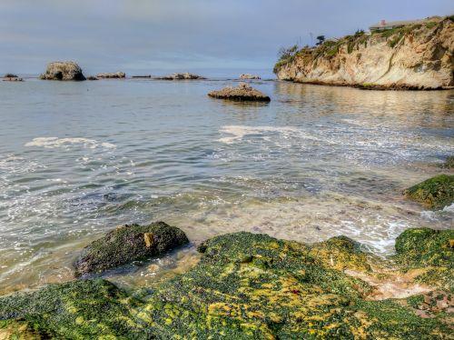 papludimys, jūra, vandenynas, bangos, lukštais & nbsp, paplūdimys, pismo & nbsp, paplūdimys, Kalifornija, kraštovaizdis, lukšto paplūdimys
