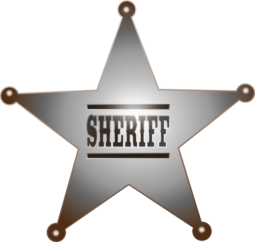 sheriff badge cowboy