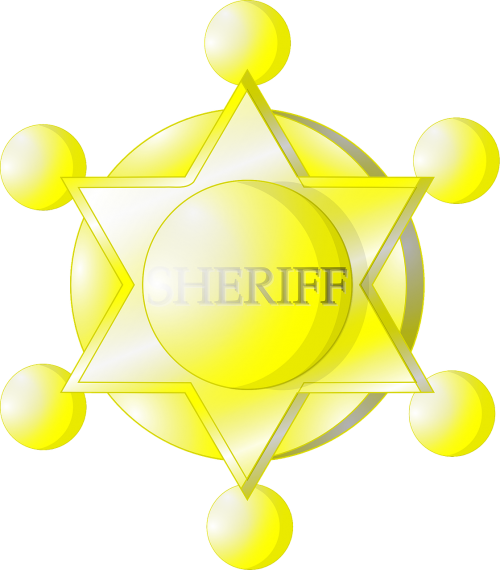 sheriff badge yellow