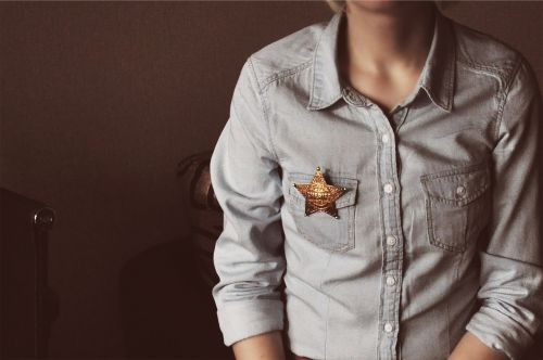 sheriff star denim