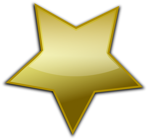 sheriff's star star golden
