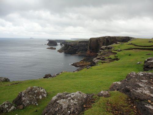 shetland islands eshaness sea