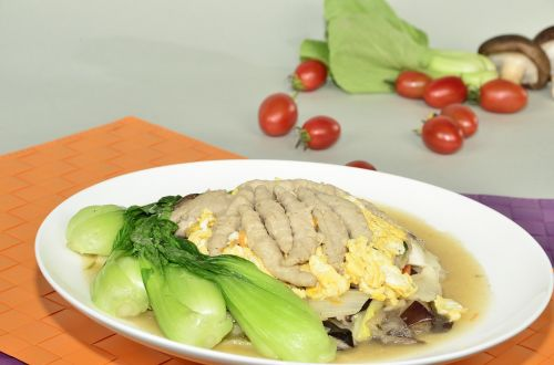shiitake mushroom meat soup when the vegetables