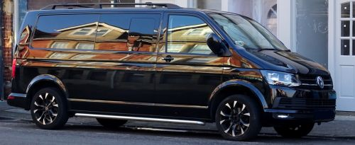 Shining Black Volkswagen Van