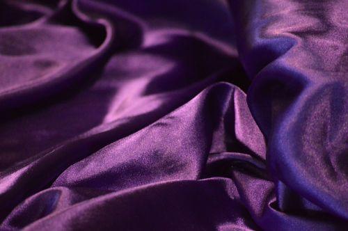 shiny purple silk