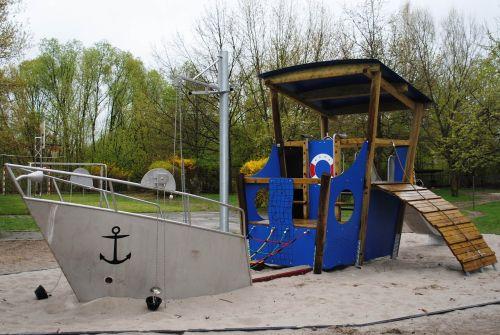 playground children's playground ship