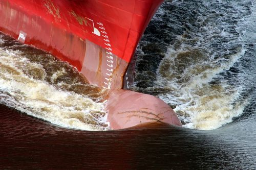 ship shipping bulbous bow