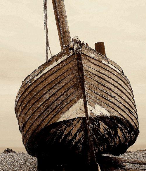 ship sepia old