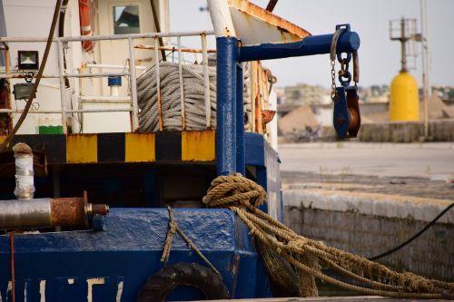 ship fishing boat port