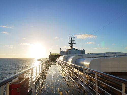 ship cruising voyage out