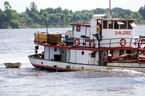 ship river rio paraguay