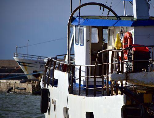 ship fishing vessel sea