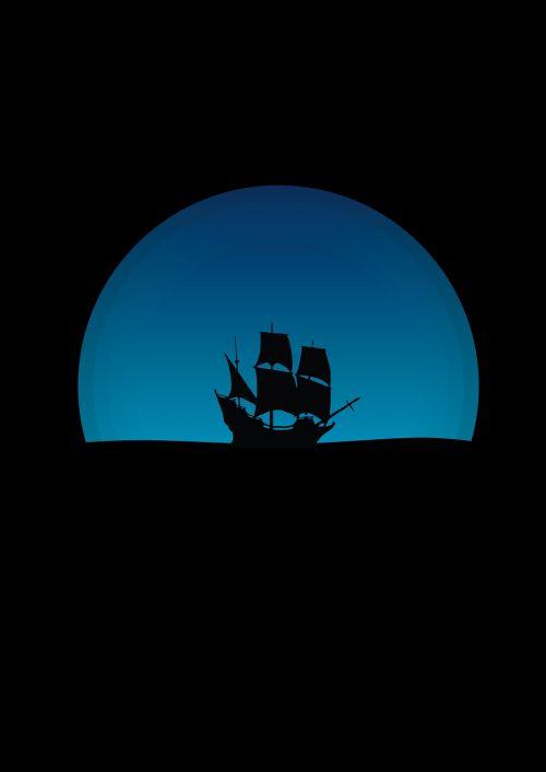 ship night sailing