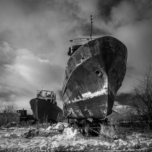 ship outdoors devastation