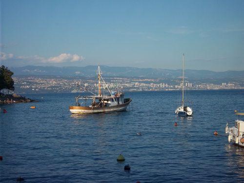 ship sea croatia