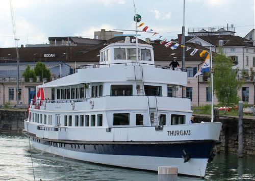 ship motor ship excursion boat thurgau