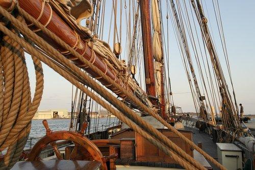 ship  helm  mast