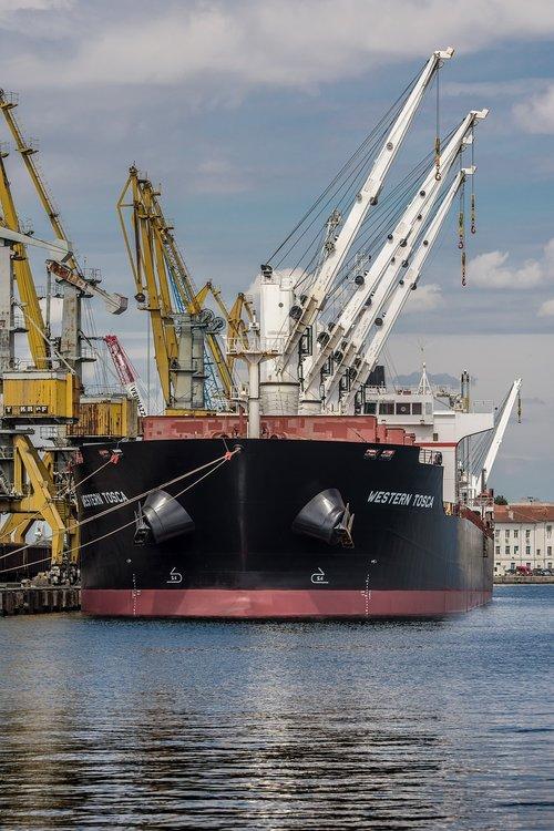 ship  port burgas  sea