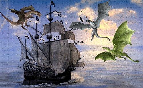 ship  vessel  dragon