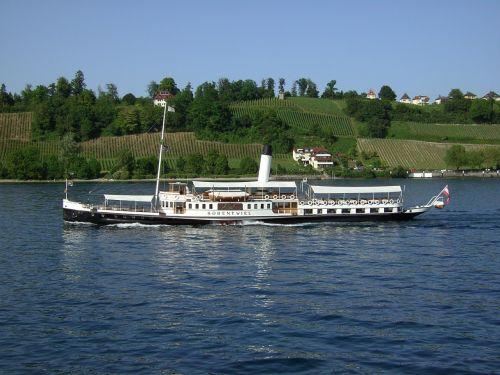 ship lake constance paddle wheel