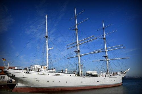 ship  sailing vessel  sail training ship