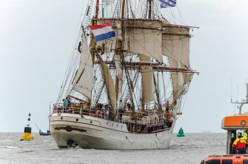 ship sailing sea-going vessel harlingen