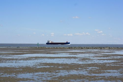 ship freighter beach