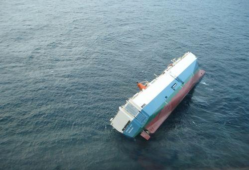 ship capsized listing