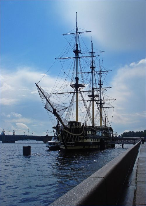 russia st petersburg russia ship