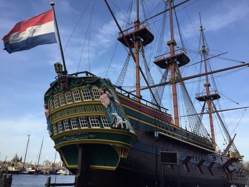 ship amsterdam flag seafaring