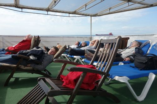 ship deck cruise deck chair