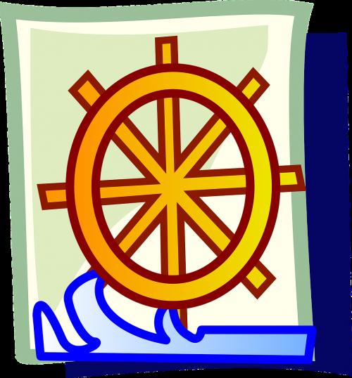 ship helm wheel steering